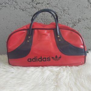 Adidas Vintage Retro Vinyl Duffle Gym Travel Bag